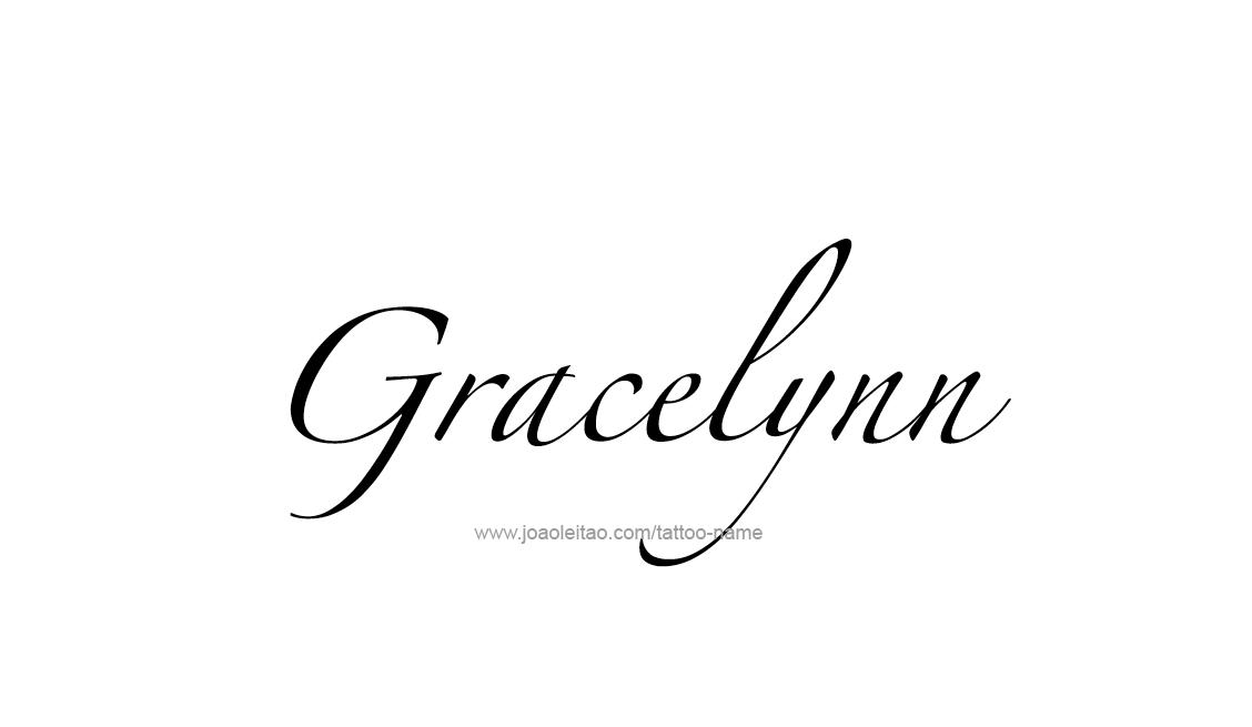 Tattoo Design Name Gracelynn