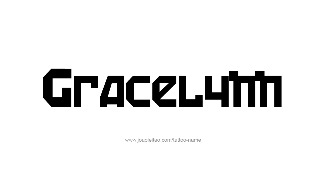 Tattoo Design Name Gracelynn