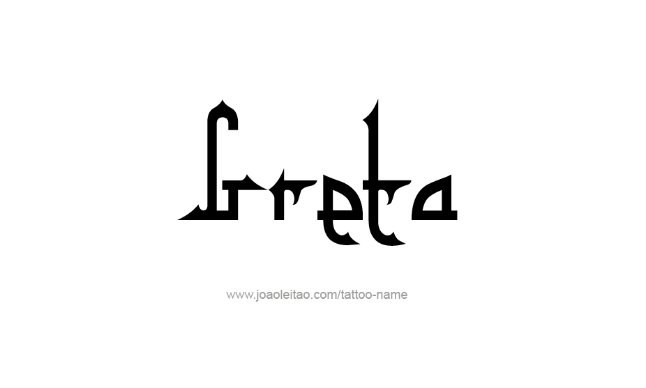 Tattoo Design Name Greta