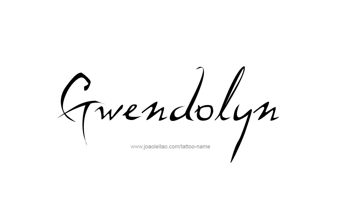 Tattoo Design Name Gwendolyn