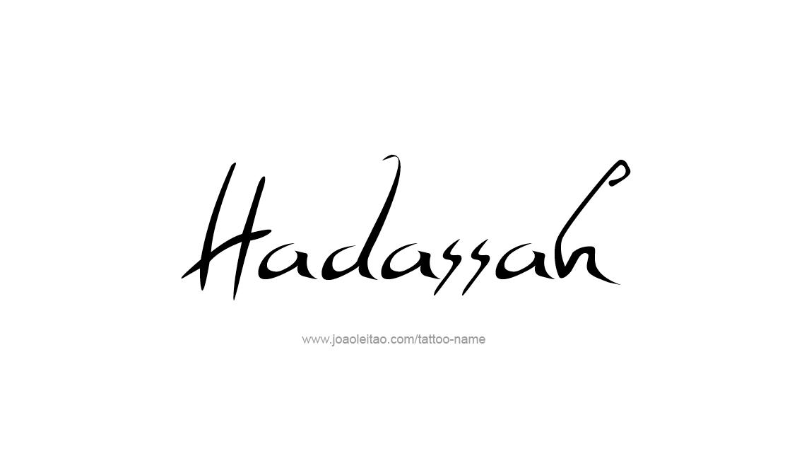 Tattoo Design Name Hadassah