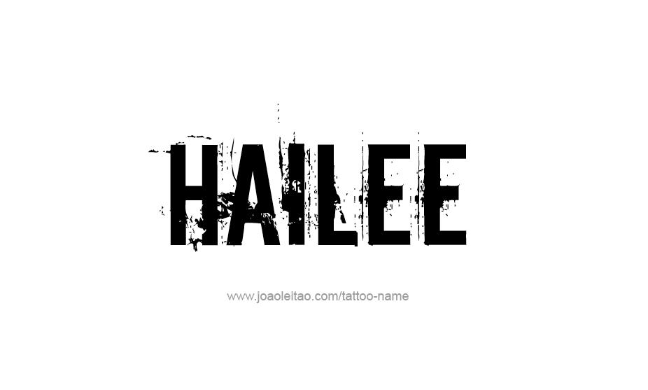 Tattoo Design Name Hailee