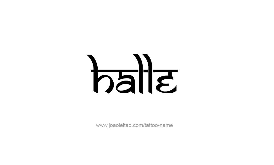 Tattoo Design Name Halle
