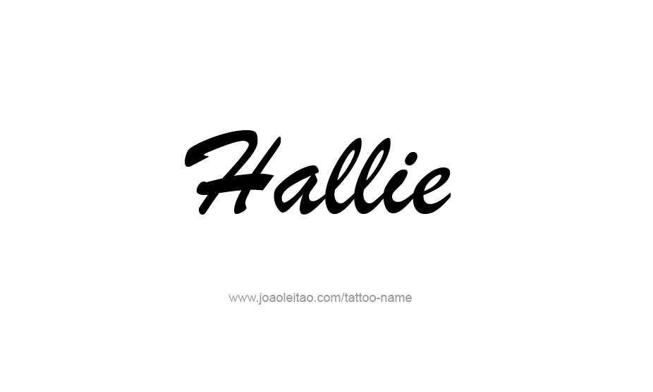 Tattoo Design Name Hallie
