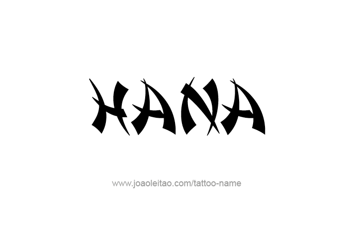 Tattoo Design Name Hana