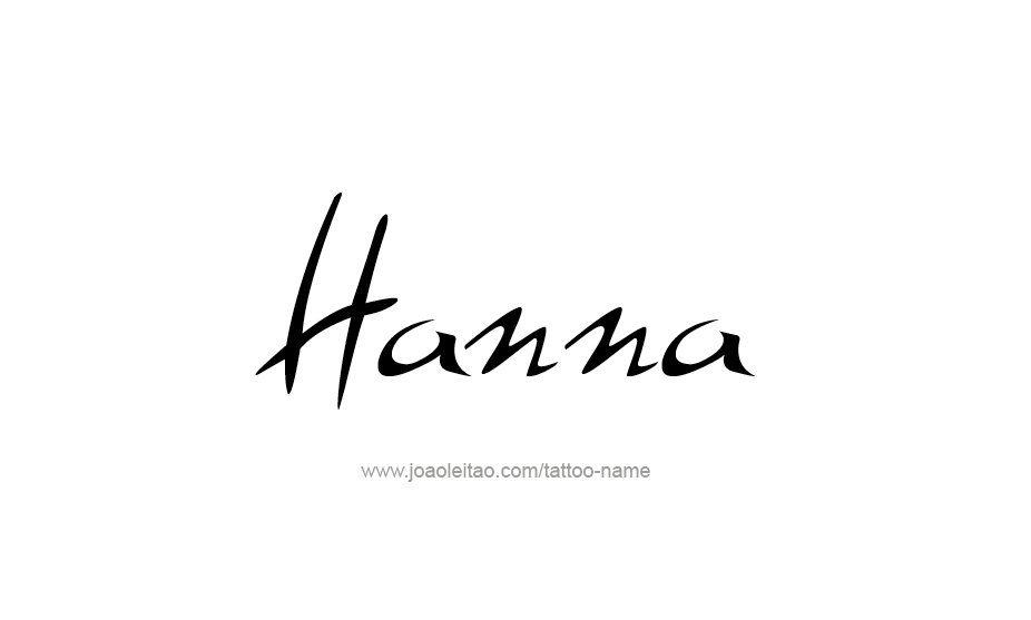 Tattoo Design Name Hanna