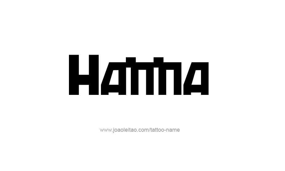 Tattoo Design Name Hanna
