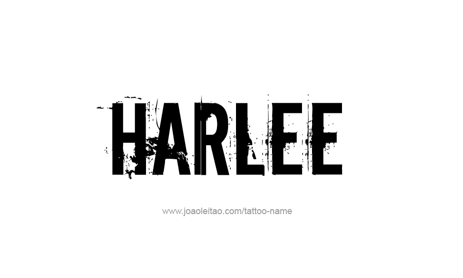 Tattoo Design Name Harlee