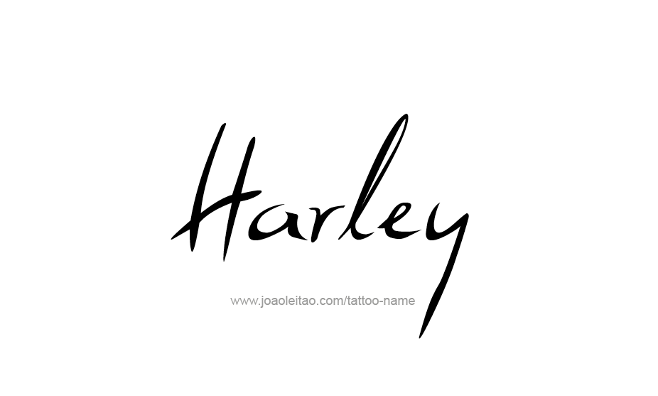 Tattoo Design Name Harley