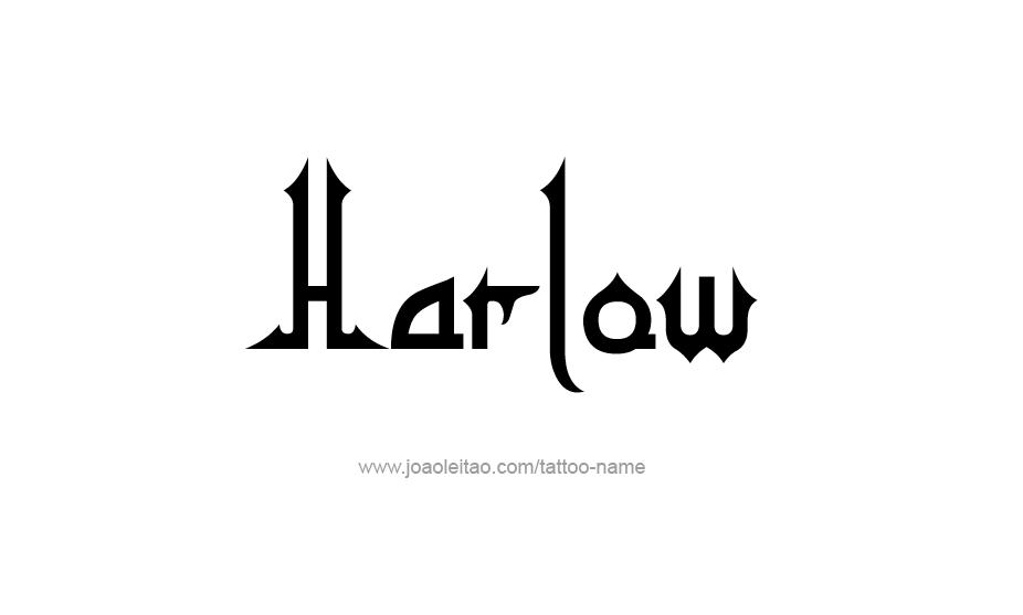 Tattoo Design Name Harlow