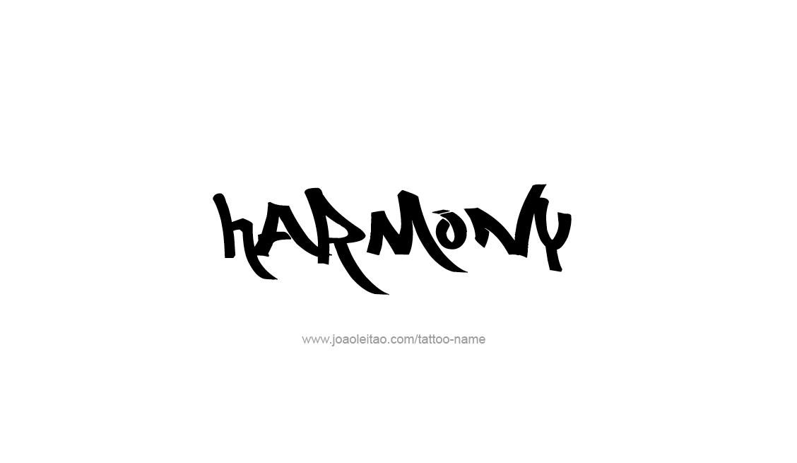 Tattoo Design Inspiration Name Harmony
