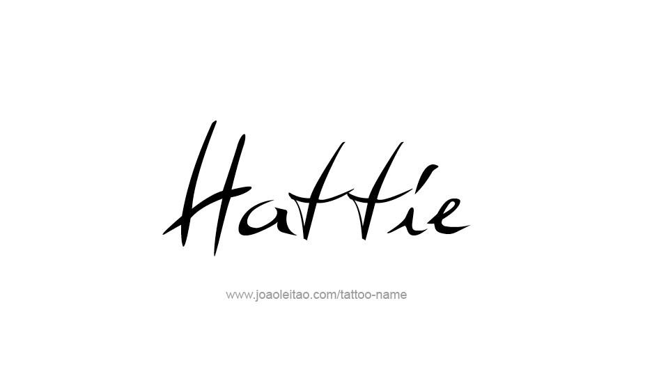 Tattoo Design Name Hattie