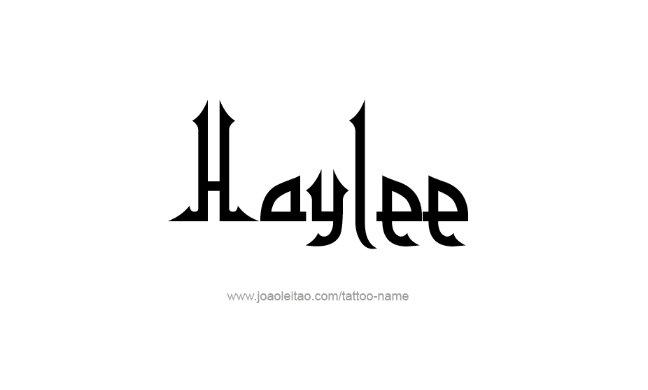 Tattoo Design Name Haylee