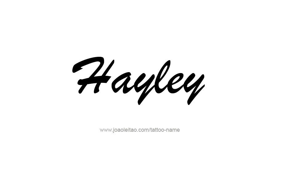 Tattoo Design Name Hayley
