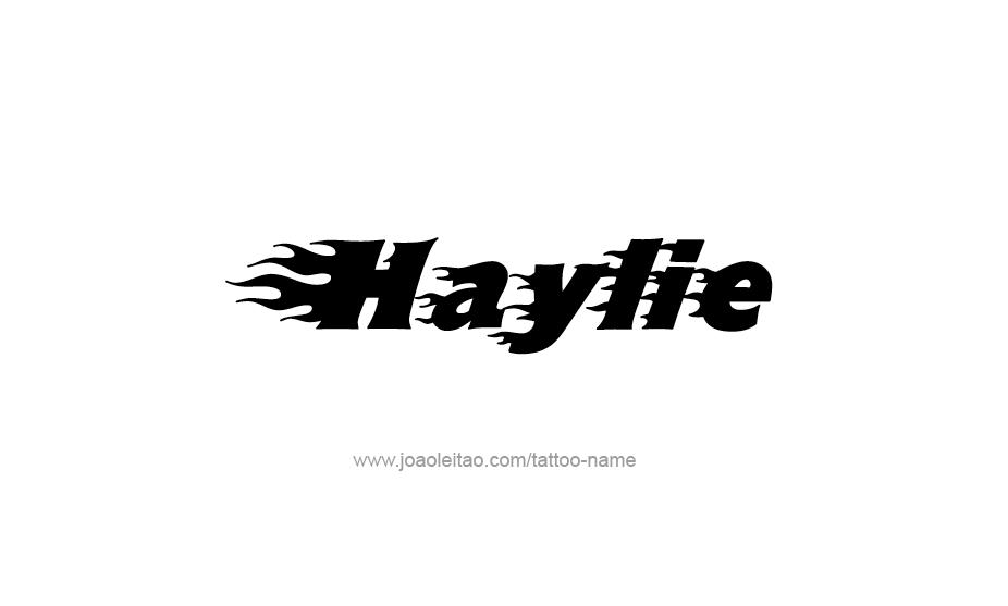 Tattoo Design Name Haylie