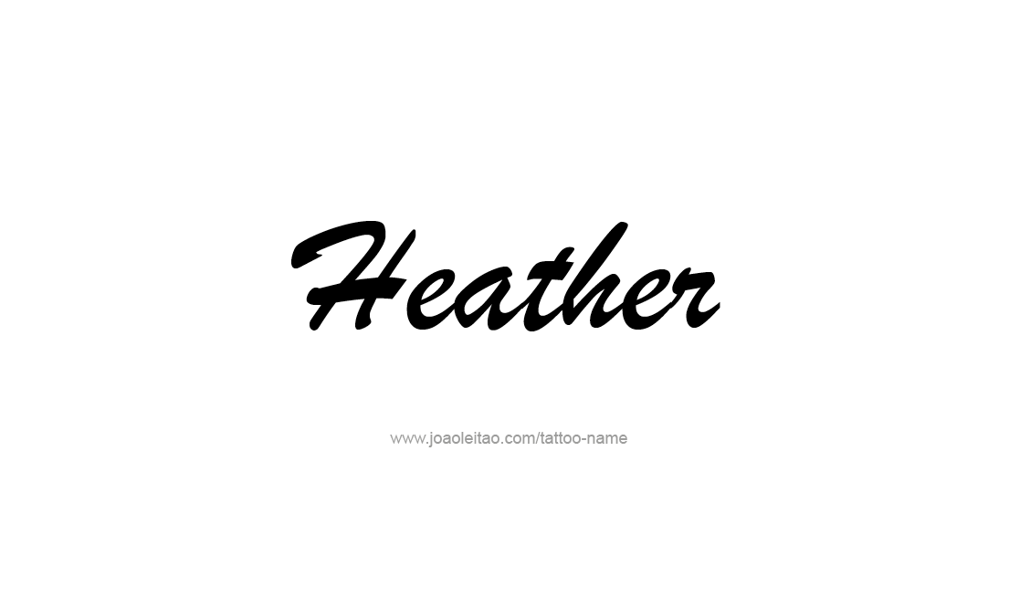 Tattoo Design Name Heather
