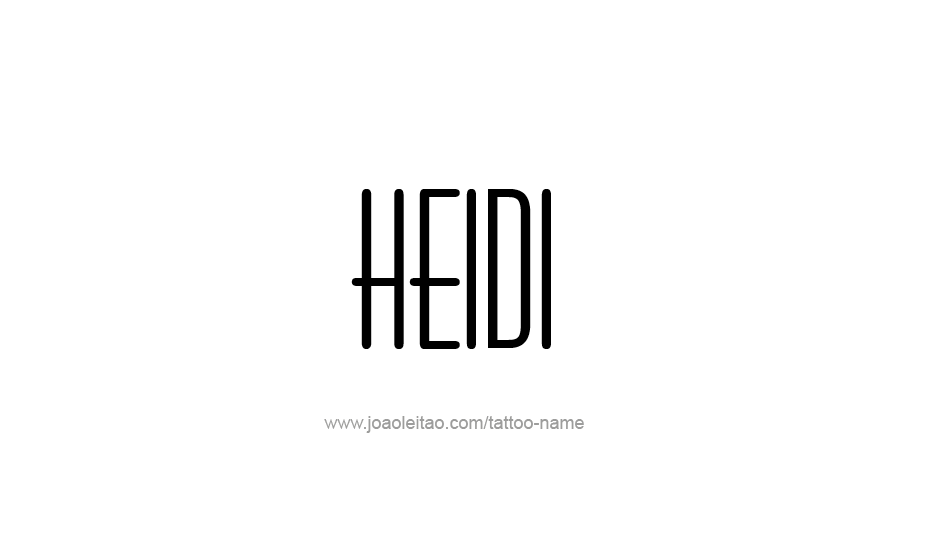 Tattoo Design Name Heidi