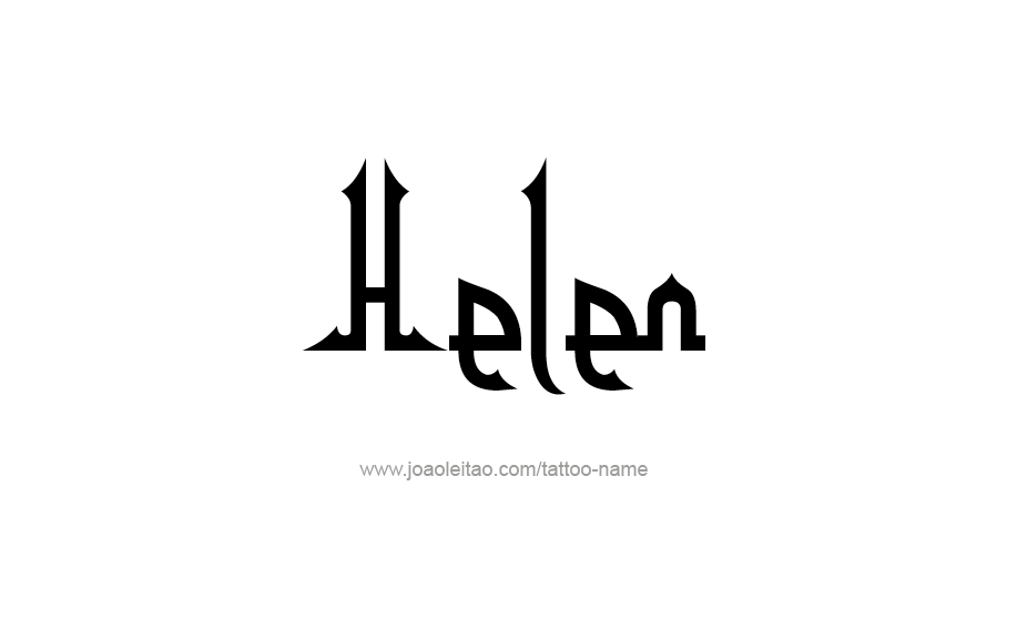 Tattoo Design Name Helen
