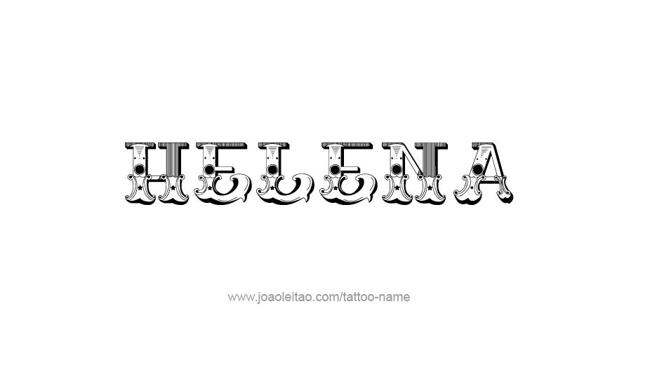 Tattoo Design Name Helena