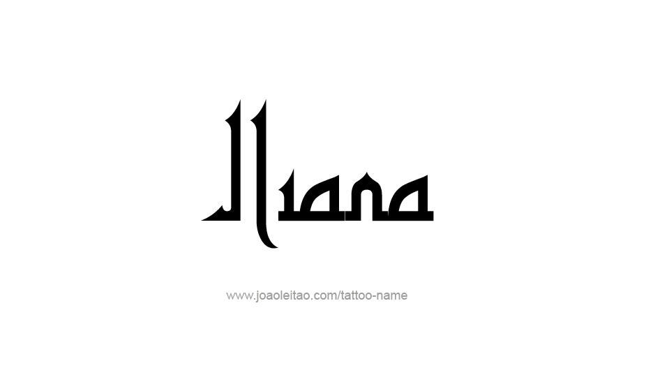 Tattoo Design Name Iliana