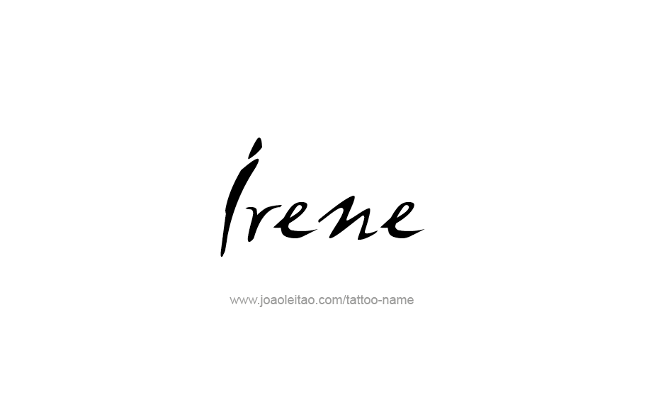 Tattoo Design Name Irene