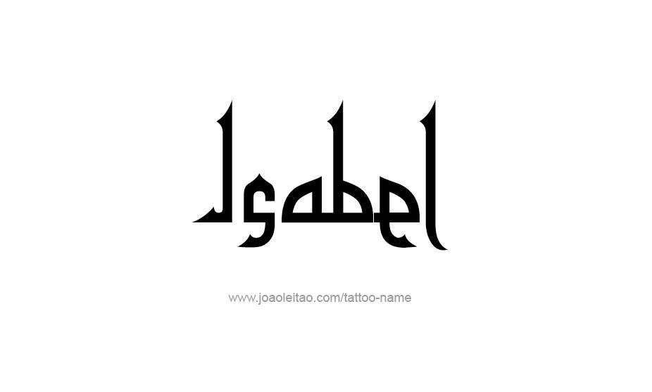 Tattoo Design Name Isabel
