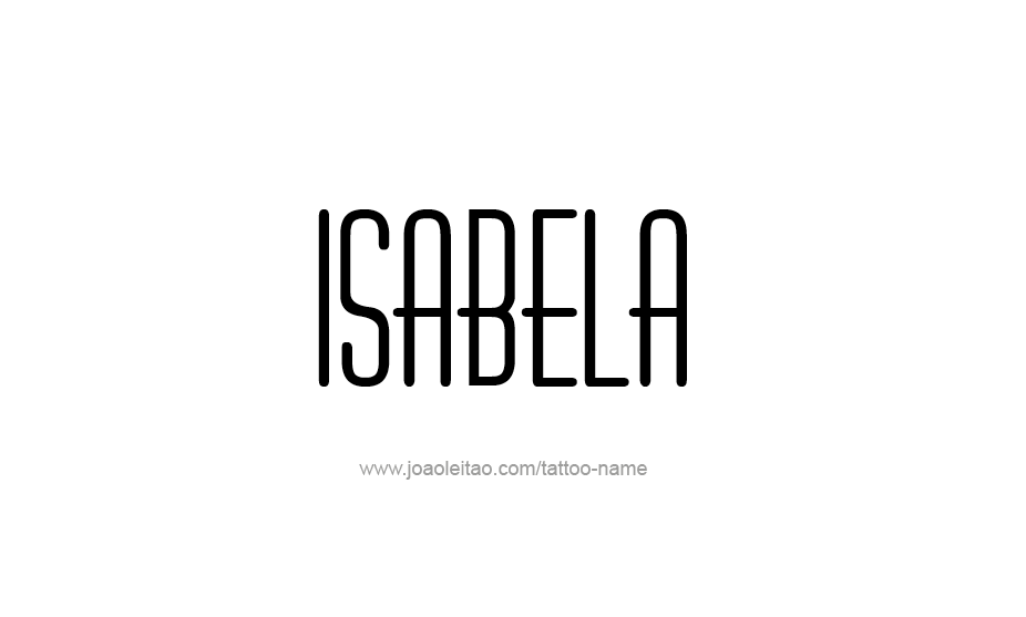 Tattoo Design Name Isabela