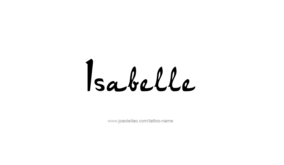 Tattoo Design Name Isabelle