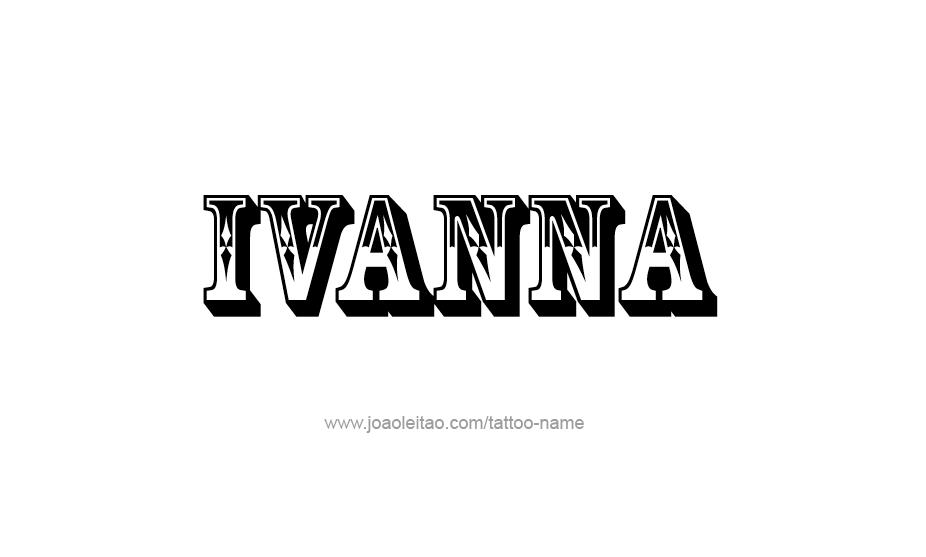 Tattoo Design Name Ivanna