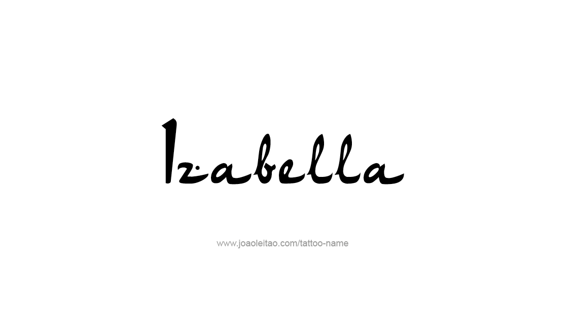 Tattoo Design Name Izabella