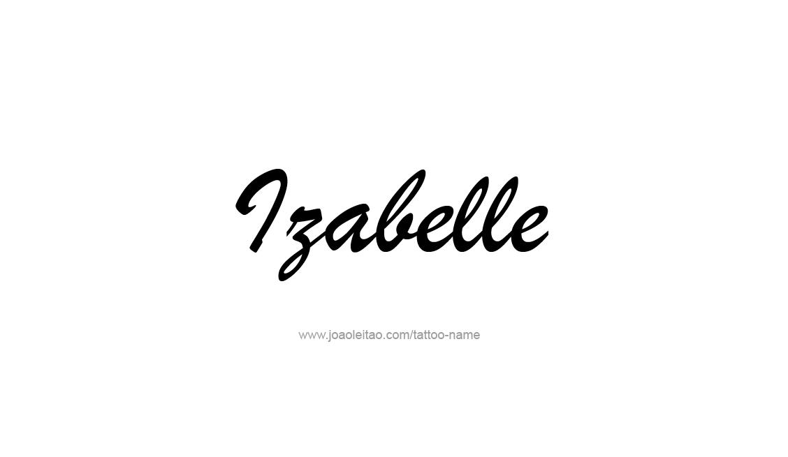 Tattoo Design Name Izabelle