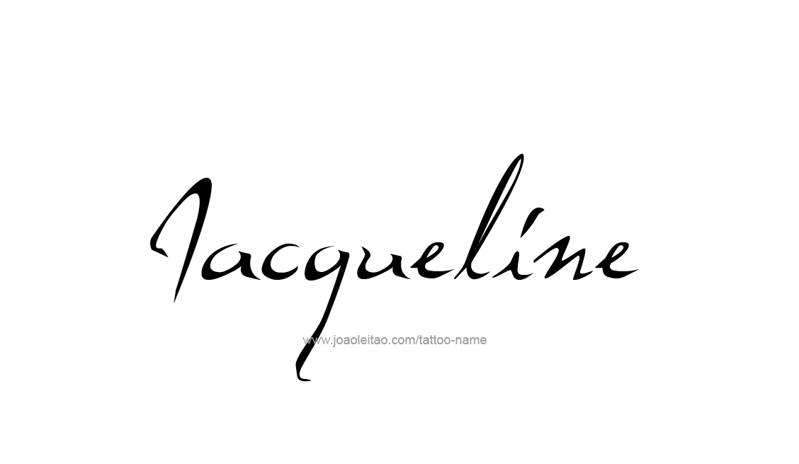 Tattoo Design Name Jacqueline