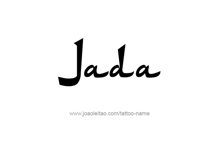 Tattoo Design Name Jada