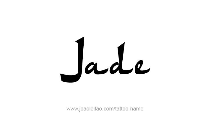 Tattoo Design Name Jade