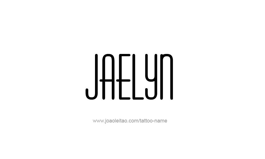 Tattoo Design Name Jaelyn