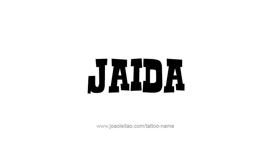 Tattoo Design Name Jaida