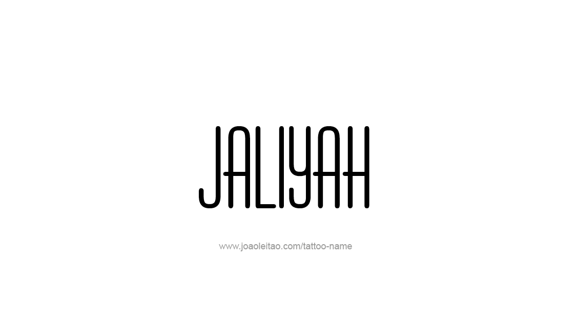 Tattoo Design Name Jaliyah