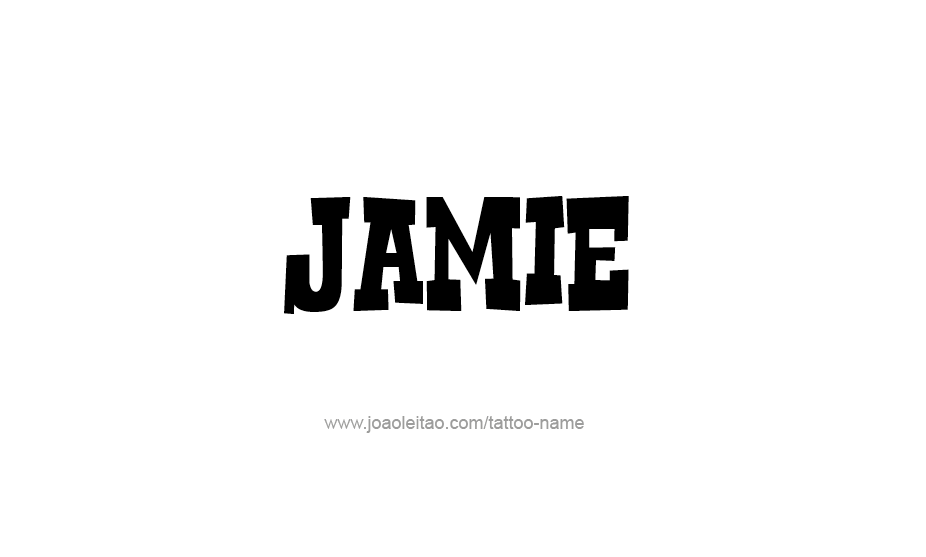Tattoo Design Name Jamie