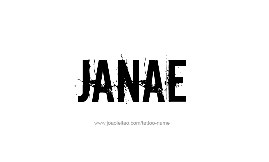Tattoo Design Name Janae