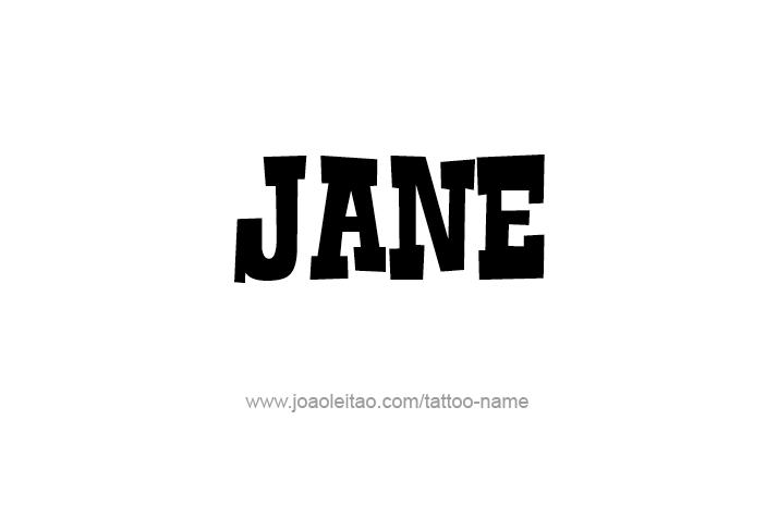 Tattoo Design Name Jane