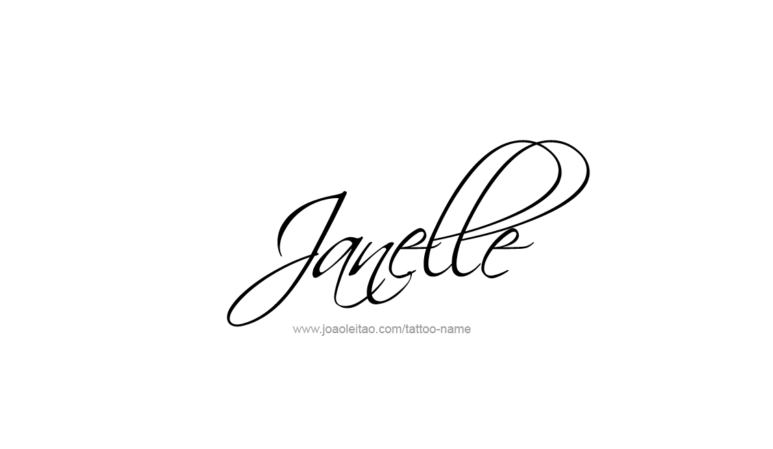 Tattoo Design Name Janelle