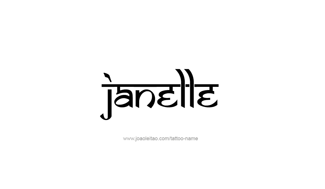 Tattoo Design Name Janelle