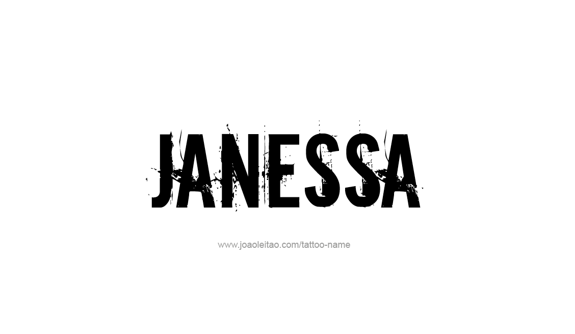Tattoo Design Name Janessa