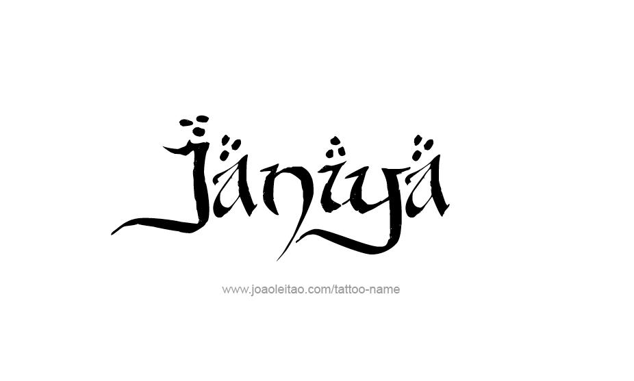 Tattoo Design Name Janiya