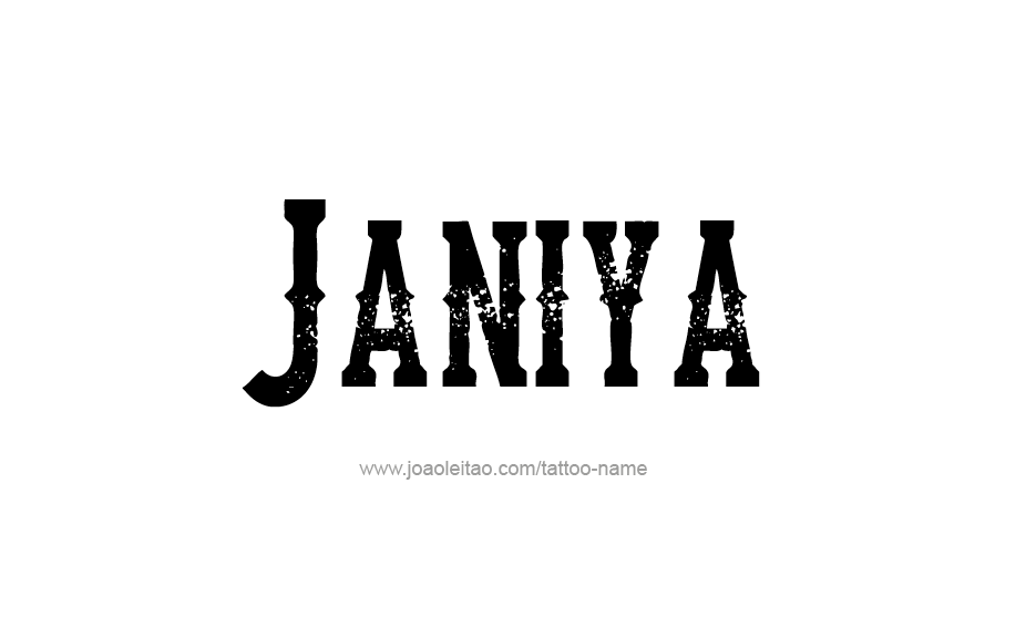 Tattoo Design Name Janiya