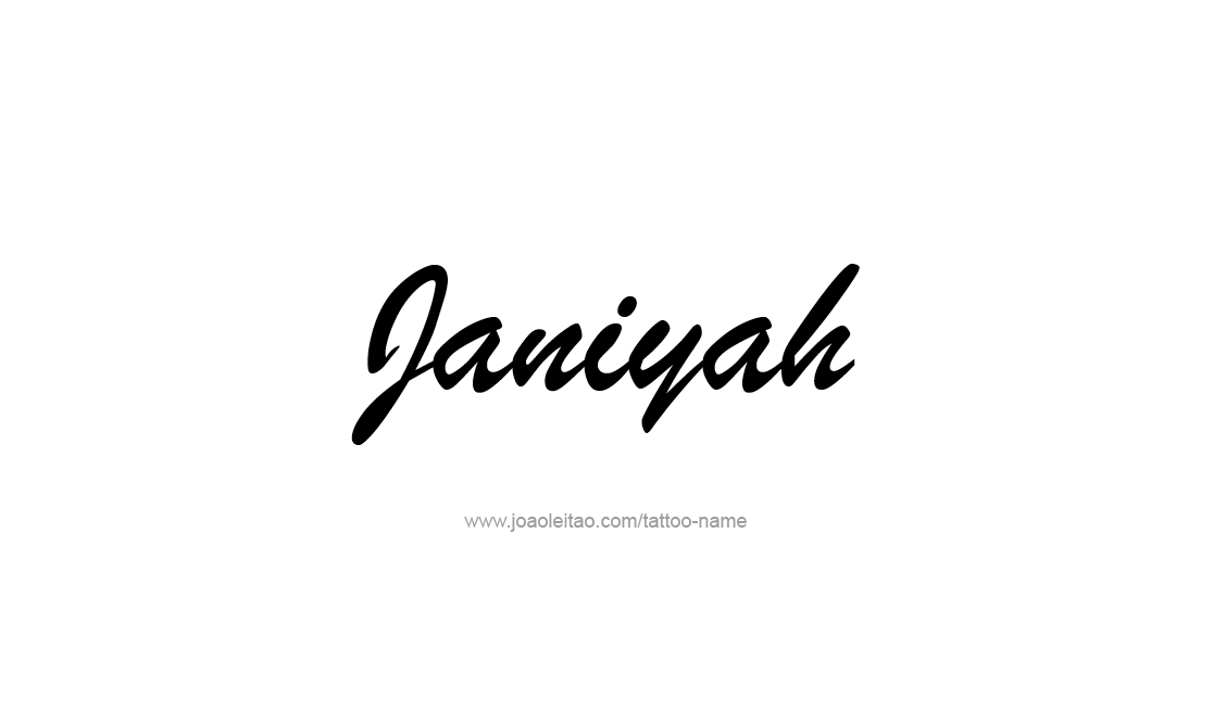Tattoo Design Name Janiyah