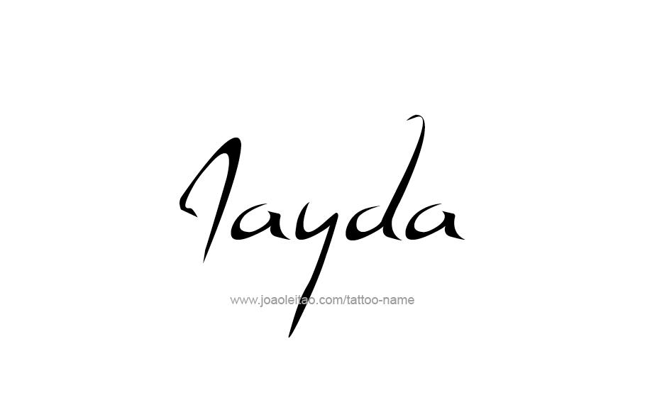 Tattoo Design Name Jayda