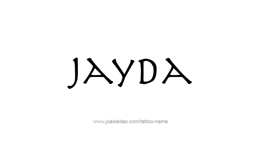 Tattoo Design Name Jayda
