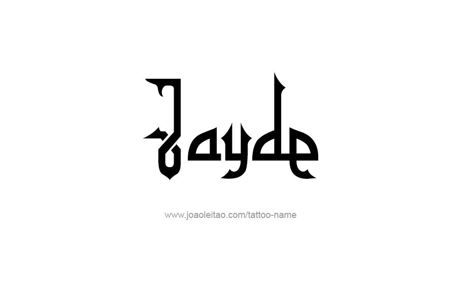 Tattoo Design Name Jayde