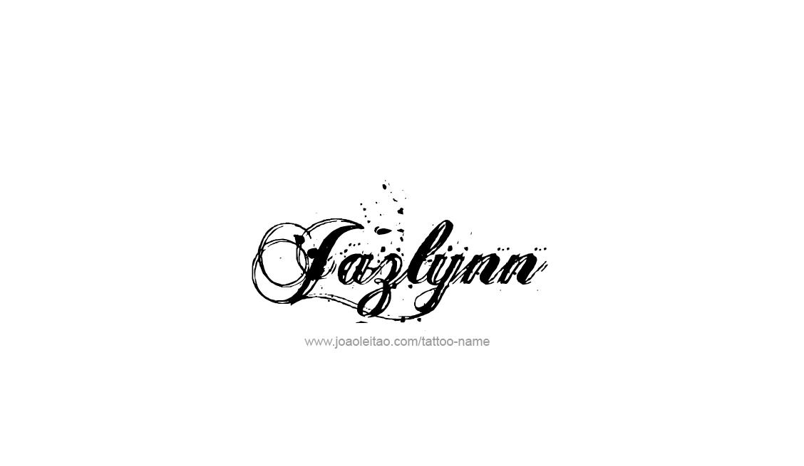 Tattoo Design Name Jazlynn